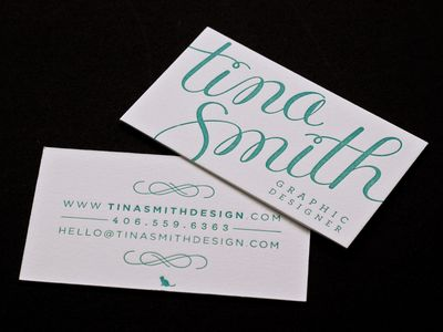 best business card font