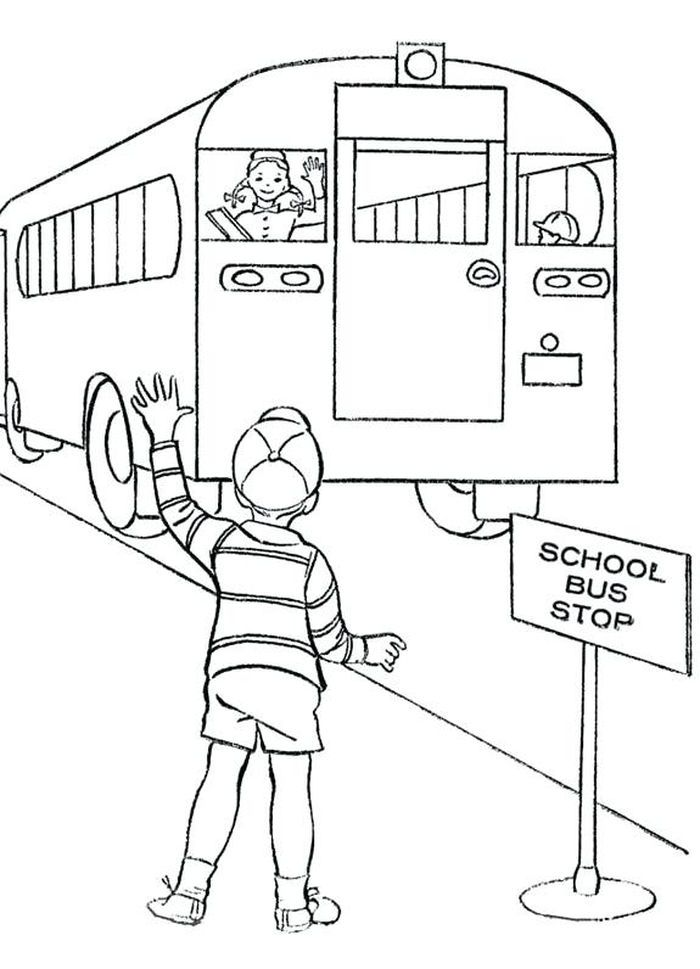 Bus Coloring Pages Collection School Bus Drawing Coloring Pages