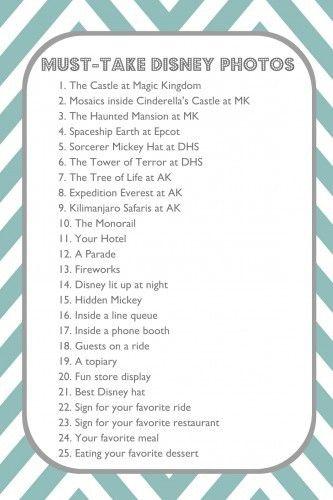 25 Must-Take Disney Photos