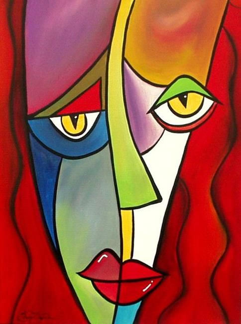 Faces 8 - by Thomas C. Fedro from Abstract Representational Art Gallery