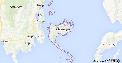 Χάρτης του Μεγανησιού.