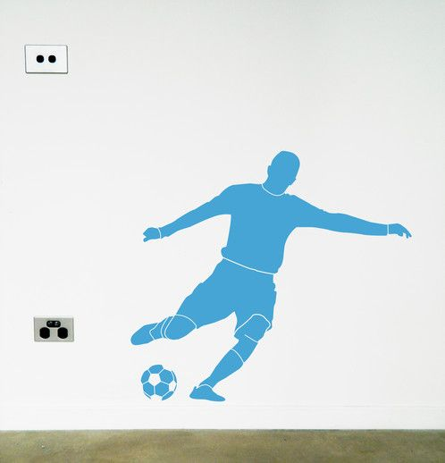 Soccer/Football wall sticker/decal. https://www.moonfacestudio.com.au/product-page/soccer-football-vinyl-wall-sticker-decal