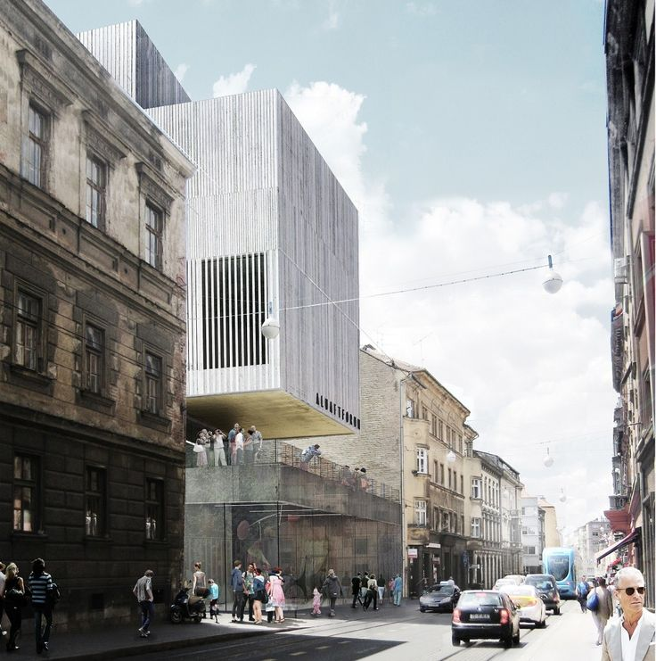 Multiplan Arhitekti Wins Competition for New Gallery in Zagreb, Art Academy