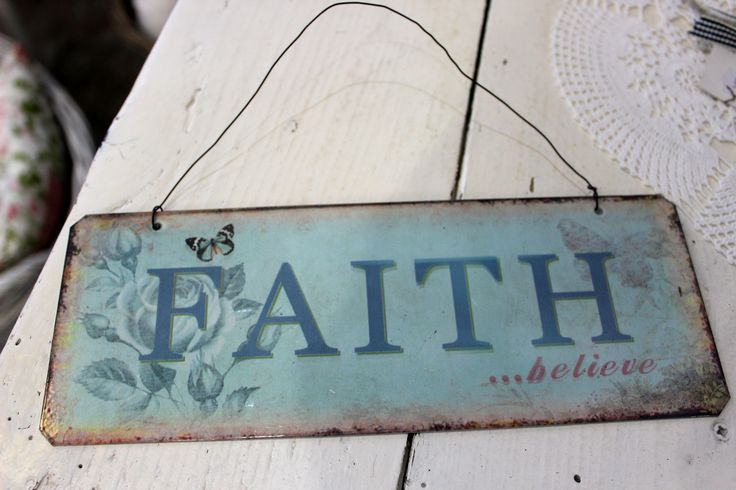 Faith signed board
