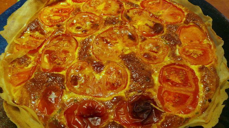 Etre ou ne pas être une tarte…ou une quiche : Quiche légère tomates, lardons et estragon