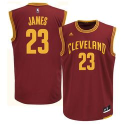 Cleveland Cavaliers LeBron James Youth Replica Road Jersey New 100% mesh detail is breathable, comfortable and easy to care Made by Adidas Features Screen-printed name and numbering Officially license