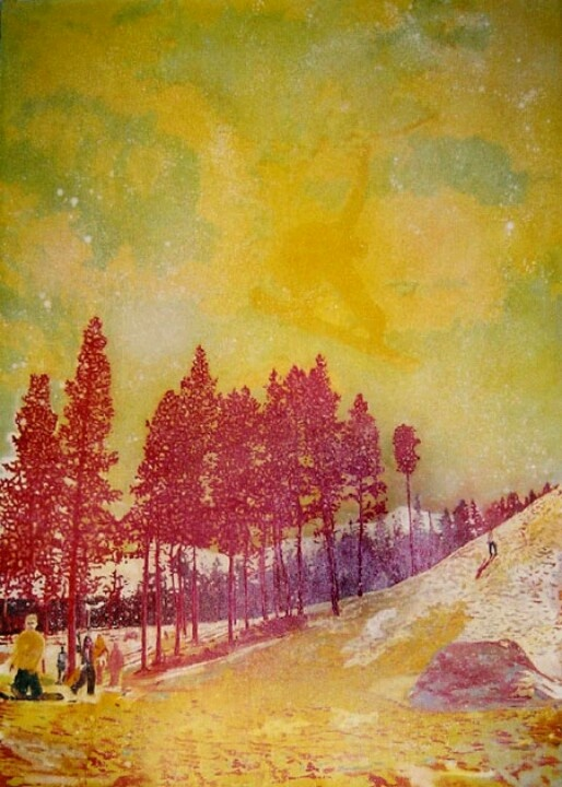 Peter Doig; Orange Sunshine  1995  Oil on Canvas  276 x 201cm