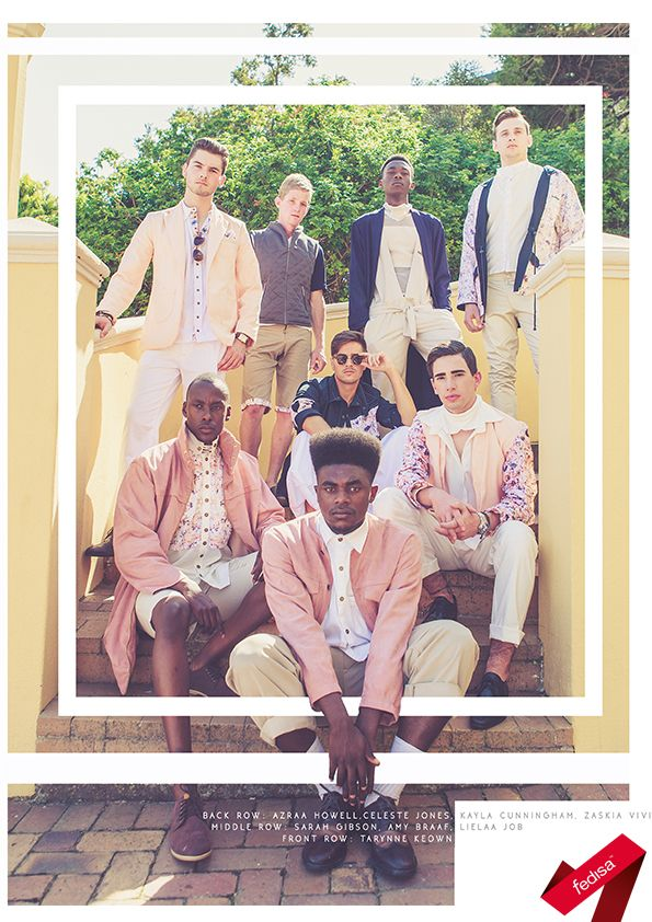 The FEDISA Markham Menswear Module was a collaboration with The Foschini Group's brand. The students created a 3-piece look each according to a trend for S/S 16/17. Photo by Seth Zworestine.