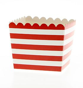 Trucks and Trikes Birthday; 12 Red stripe favour boxes/popcorn boxes comes with the  Deluxe Packs