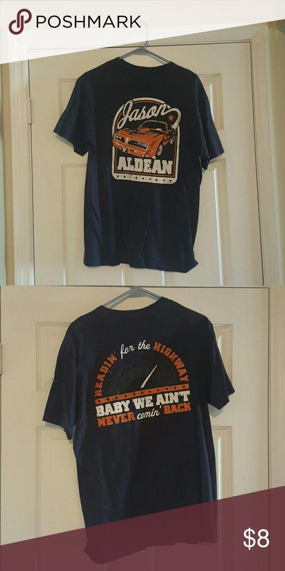 Jason Aldean Concert Tee Size large Jason Aldean Concert Tee shirt. Shirts Tees - Short Sleeve