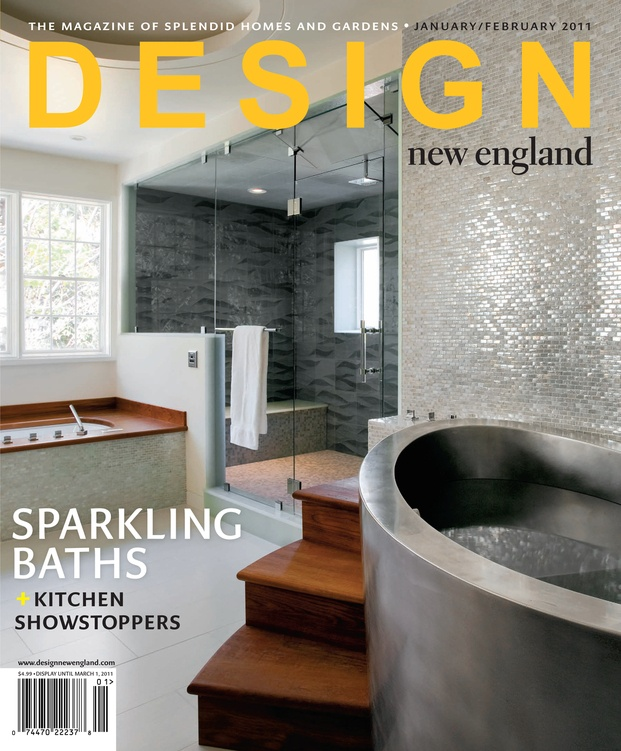 Design New England Jan/Feb 2011 Vihara In Puka/Iridescent Bricks ·  Contemporary BathroomsBathroom IdeasBathroom TilingBathtub ...