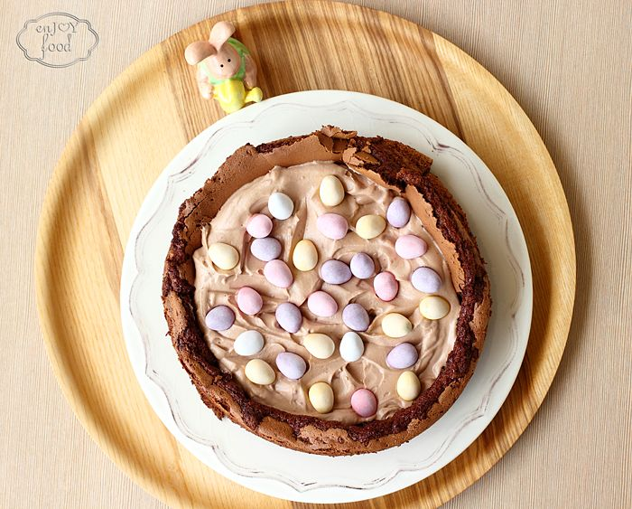 Easter egg nest cake - Tort - Cuib de oua de Pasti