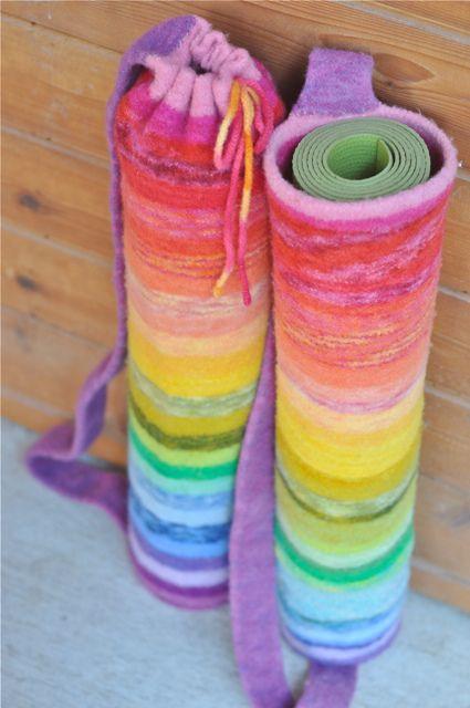 felted yoga mat bag