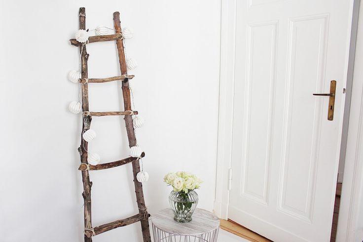 dekoleiter selber bauen autumn decorations dekoleiter selber bauen und selber basteln. Black Bedroom Furniture Sets. Home Design Ideas