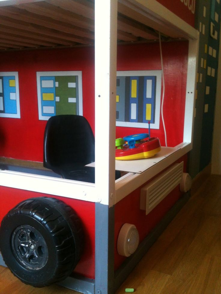23 best images about kinderbed kura on pinterest kid beds sweet peas and ikea hacks - Ikea fire truck bed ...