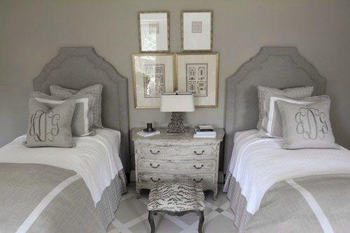 ♅ Dove Gray Home Decor ♅  guest bedroom