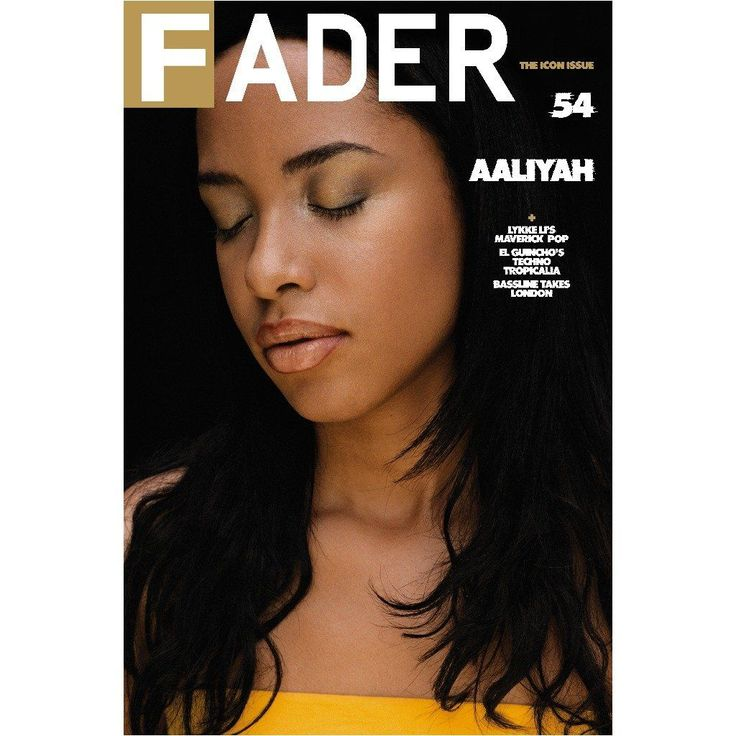 """Aaliyah / The FADER Issue 54 Back Cover 20"""" x 30"""" Poster"""