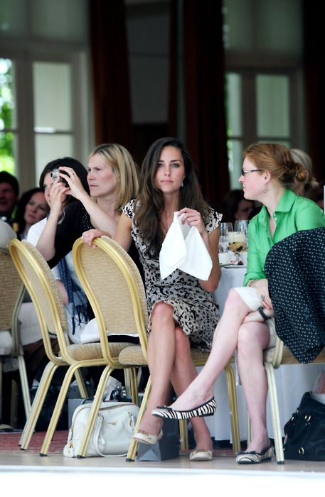 Kate Middleton during the Jigsaw fashion show while she still worked there June 2007.