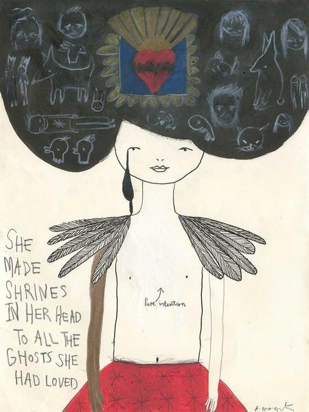 """She Made Shrines"" by Emma Magenta  #art #drawing #illustration"