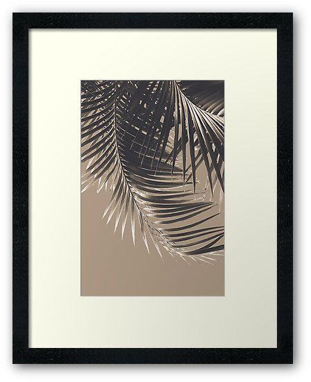 """Palm Leaves Sepia Vibes #2 #tropical #decor #art"" Framed Prints by anitabellajantz 