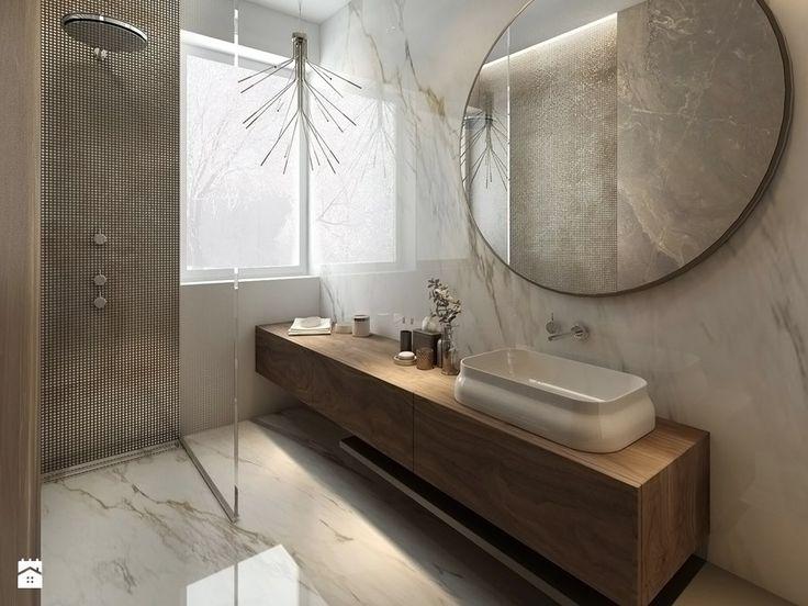 MOCO / Klasyka w nowoczesnej formie. - Średnia łazienka na poddaszu w bloku w domu jednorodzinnym z oknem, styl nowojorski - zdjęcie od MOCO Architecture
