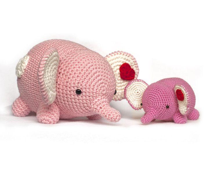 Häkelanleitungen - Amigurumi Liebe Elefant Häkeln