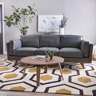 Astoria Grey Oxford Leather Sofa. Online FurnitureNew FurnitureFurniture  OutletOxfordsModern ...