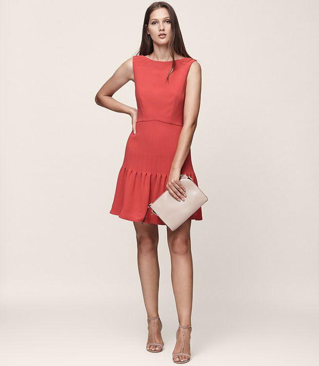 REISS - MARISA PIN-TUCK DRESS