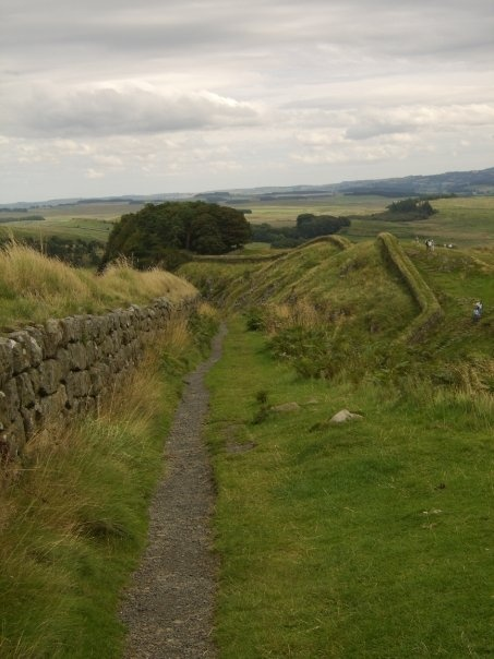 Hadrian's Wall. Built in AD122 by Roman Emperor Hadrian, the wall stretches from South Shields to Ravenglass, approximately 84 miles. There were about 16 forts along the Wall.