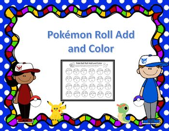 This Summer Pokemon Go was all the rage with young and old alike  so why not create a bundle of math activities and centers to engage students. In this freebie, students will practice addition to twelve. Students roll two dice, add them, and then color in the corresponding Poke Ball.
