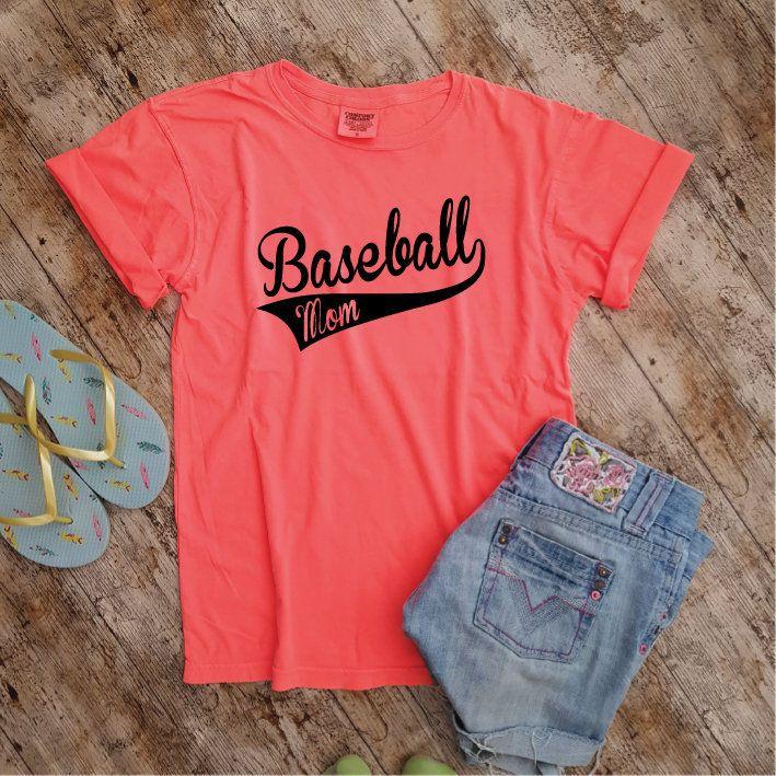 91702f7952921 Baseball Mom Shirt. Comfort Colors Shirt. Mom Shirt. Baseball Shirt ...