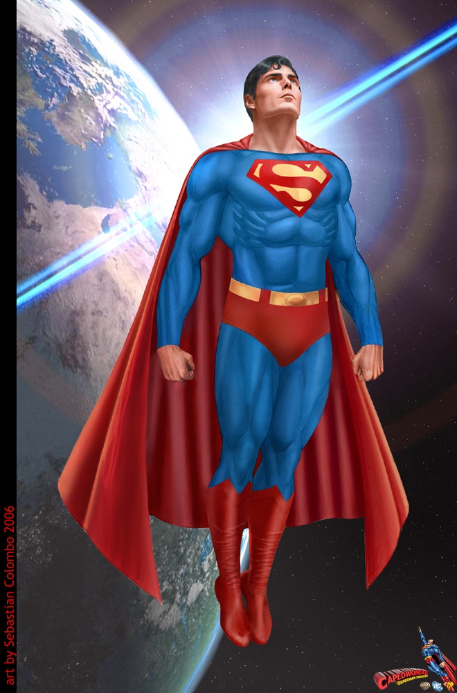 Superman Art... I love superman!!!  I want my own superman :)
