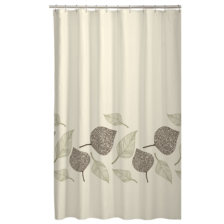 Fossil leaf fabric shower curtain bath accessories for Bathroom accessories at walmart