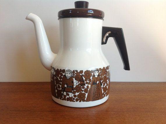 Vintage Arabia Finel Ritari Coffee Pot Esteri by HotCoolVintage