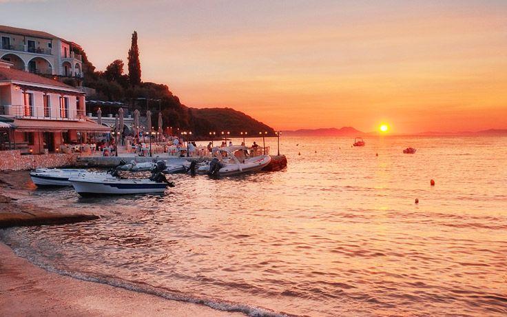 Sunset in Sivota #Greece #harbour #sunset #Sivota
