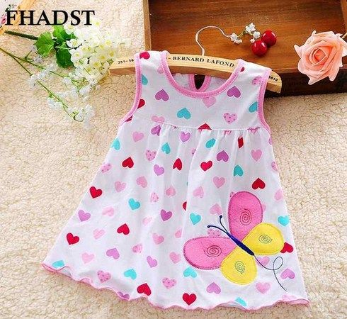 Infantil Baby Girl Dress Cotton Regular Sleeveless