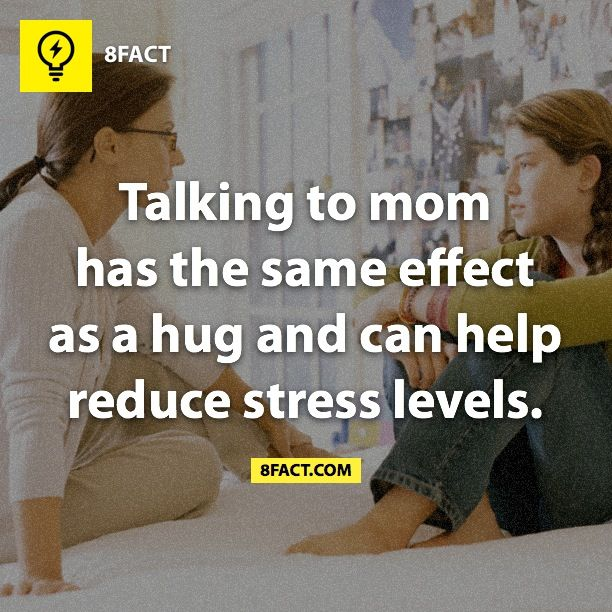 8fact - Amazing, no wonder I love talking to my Mom so much! :D