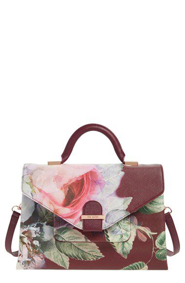 Ted Baker London Ted Baker London Floral Print Faux Leather Satchel (Nordstrom Exclusive) available at #Nordstrom