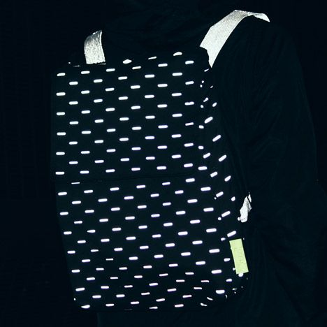 Reflective fabrics designed to turn everyday accessories into cycling safety gear.
