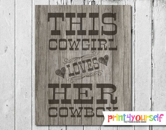 Cowgirl Sign // Instant Download 8x10 Printable by Print4Yourself