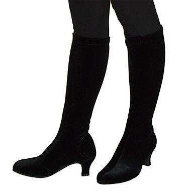 Women's High Shaft Velvet Boots Modern Dance Shoes More Colors – GBP £ 21.89