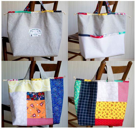 Japonesa tirarán de la bolsa de asas - Tutorial gratuito de costura - SewCanShe | Diario Libre de coser tutoriales