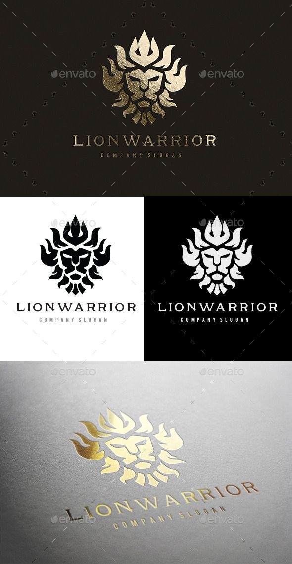Lion Warrior — Vector EPS #gold #mask • Available here → https://graphicriver.net/item/lion-warrior/10526344?ref=pxcr