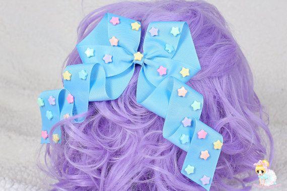 Baby Blue Hair bow Fair Kei Hair Bow Kawaii clip Pastel