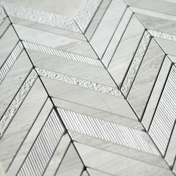 Timber White Marble and White Marble Mix Monarch Mosaic Tile