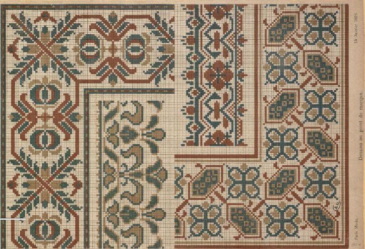 Gallery.ru / Фото #51 - старинные ковры и схемы для вышивки - SvetlanN