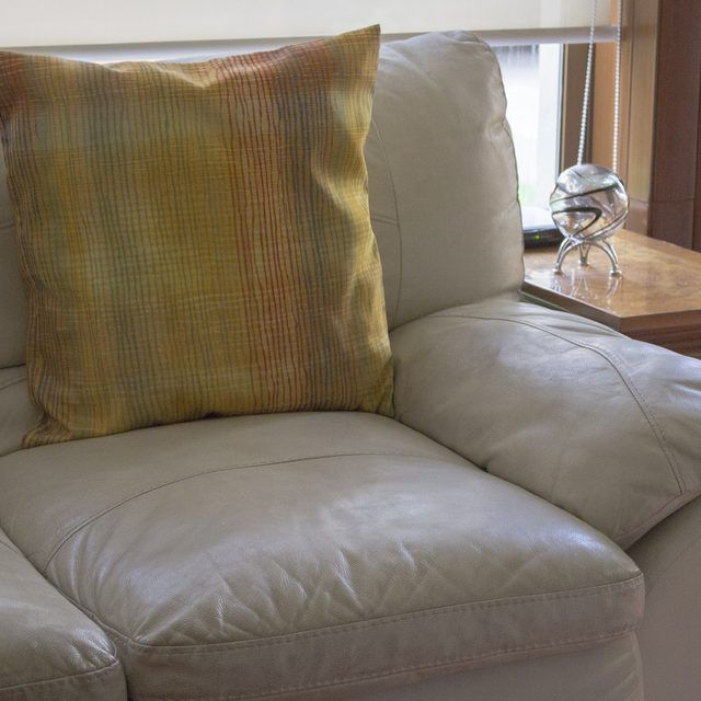 How To Keep My Pillows From Slipping Off My Leather Sofa