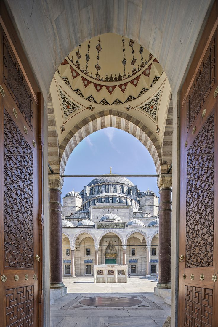 Gate to court yard of Suleymaniye Mosque – Gate to…