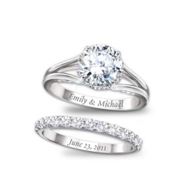 But with a princess-cut.: Engraving Ideas, Dates, Weddings, Names, Cute Ideas, Jewelry, Wedding Bands, Wedding Rings, Engagement Rings