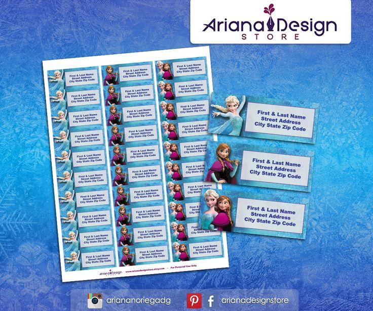 #etiquetas #etiquetasparadirecciones #frozen #arianadesignstore #frozenfever #addresslabel #partyfrozen #label #mail #stickers #letter #congelados #etiquetascolegio #anna #elsa #olaf